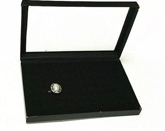 1PC Black Velveteen Rings Jewelry Display