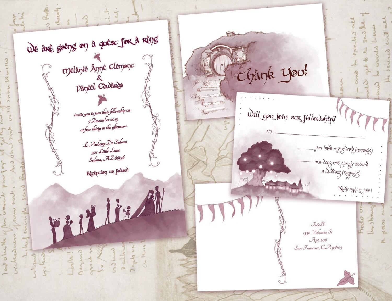 Lord of the rings digital wedding invitation middle earth for Digital wedding invitations