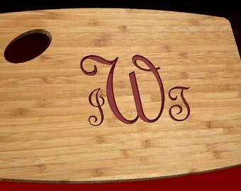 Monogram Personalized Cutting Board- Engraved