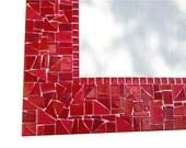 Red Mosaic Mirror