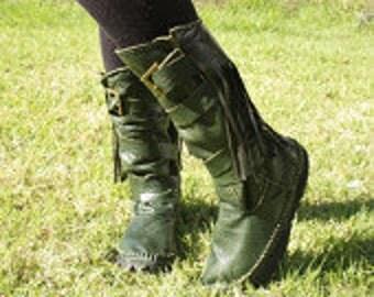 custom order green boots ( vinyl ) for RADLEIGH deposit