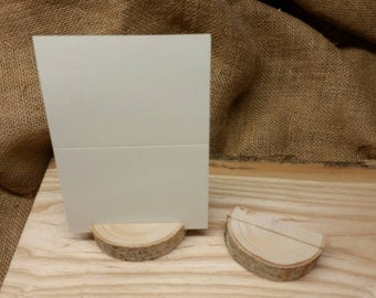 Set of Twenty Five (25) Birch Place Card/Table Number Holders