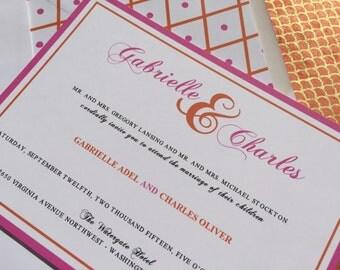 Bold Script Wedding Invitation - Elegant, Modern, Bold, Script - Wedding Invitation SAMPLE