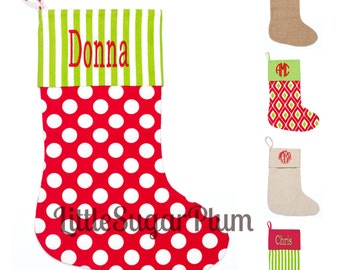 Monogrammed Christmas Stocking