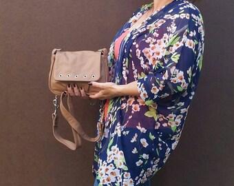 Camel Leather Bag, Fashion Shoulder Purse, Everyday Trendy Bag, Suri