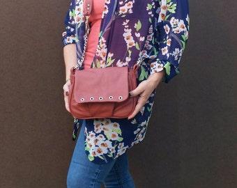 Leather Bag, Trendy Women Shoulder Bag, Cute Small Purse, Sury