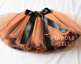 JACK-O-LANTERN -  Ribbon Tutu - Sizes 0, 3, 6, 9, 12, 18, 24 Months, 2t, 3t, 4t, 5t