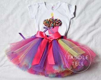 Sale - BIRTHDAY BLAST PINK Birthday Girl Set - 3d Cupcake Onesie and Tutu Skirt - 1st 2nd 3rd 4th 5th Birthday