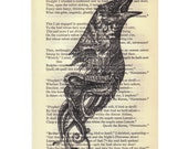Correlation Print on Vintage Edgar Allan Poe Art Print Book