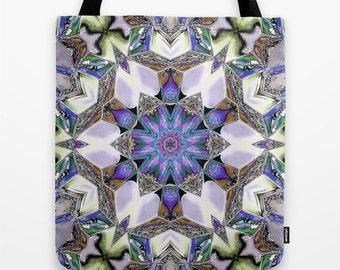 Far Out Kaleidoscope Photo Tote Bag, School Bag, Photo Tote, Tote Bag, Reusable Tote, Digital Art, Photography