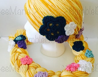 Rapunzel wig Rapunzel hat (Tangled inspired)