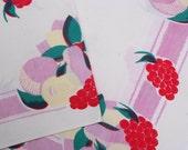 Vintage Fruit Tablecloth cutter