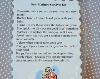 new mother survival kit