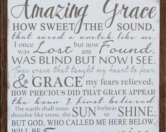 Amazing Grace 16x16