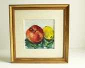 On Hold for Kim Fruit Still Life Encaustic Painting