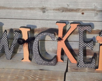 Wicked letter set ... Halloween letter set. Halloween Decor