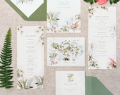 Tropical Wedding Stationery: Invitation, RSVP, Menu, Program, Thank You, place cards
