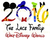 Disney Fab Five 2016 Custom DIY Printable Iron On Transfer or Door Magnet Disney Family Vacation Disney Cruise Disney World