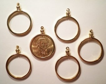 6 Goldplated Presidents Gold Dollar Coin Holders