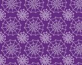 Vinyl Photography Backdrop Floordrop Prop - Webs on Purple