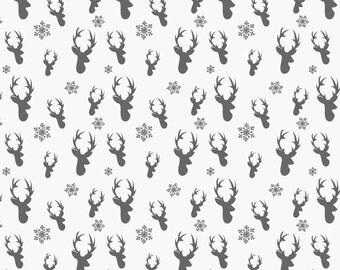 Vinyl Photography Backdrop Floordrop Prop - Deer Head Winter