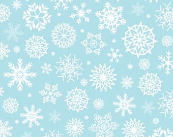 Vinyl Photography Backdrop Floordrop Prop - Snow on Powder Blue