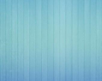 Vinyl Photography  Backdrop Photo Prop - Blue Ombre Wood
