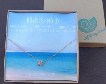 Bridesmaid necklaces, bridesmaid gifts, bridesmaid jewelry, beach wedding jewelry, hawaii wedding necklace, beach wedding, dainty charm