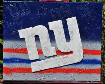 NY Giants Mixed Media Fine Art
