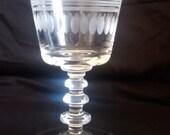 Libbey Rock Sharpe Water Goblet  #2002-3