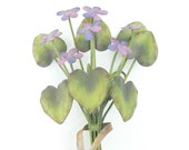 Metal Handpainted Violet Bouquet  - Wall Art - Home and Garden Decor - African Violets