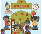 2015 Apple Fritters Kids AA African AMerican Clip art  Clipart Graphics  Commercial Use