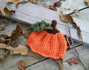 NEW- Crochet pumpkin baby hat