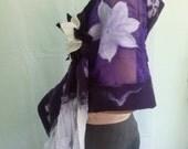 Customer order for Hanna,scarves, red black,white purple,felting, nunofelting,eco fashion