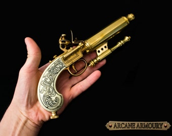 Needle Steampunk Pistol Prop