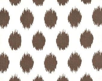 2 Yards of  Jo Jo - Italian Brown Drew - Premier Prints -  Brown White ikat polka dots