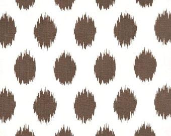 1 Yard of  Jo Jo - Italian Brown Drew - Premier Prints -  Brown White ikat polka dots