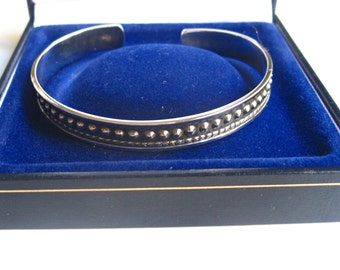 925 Sterling silver cuff bracelet men man women handmade jewelry bangle artisan