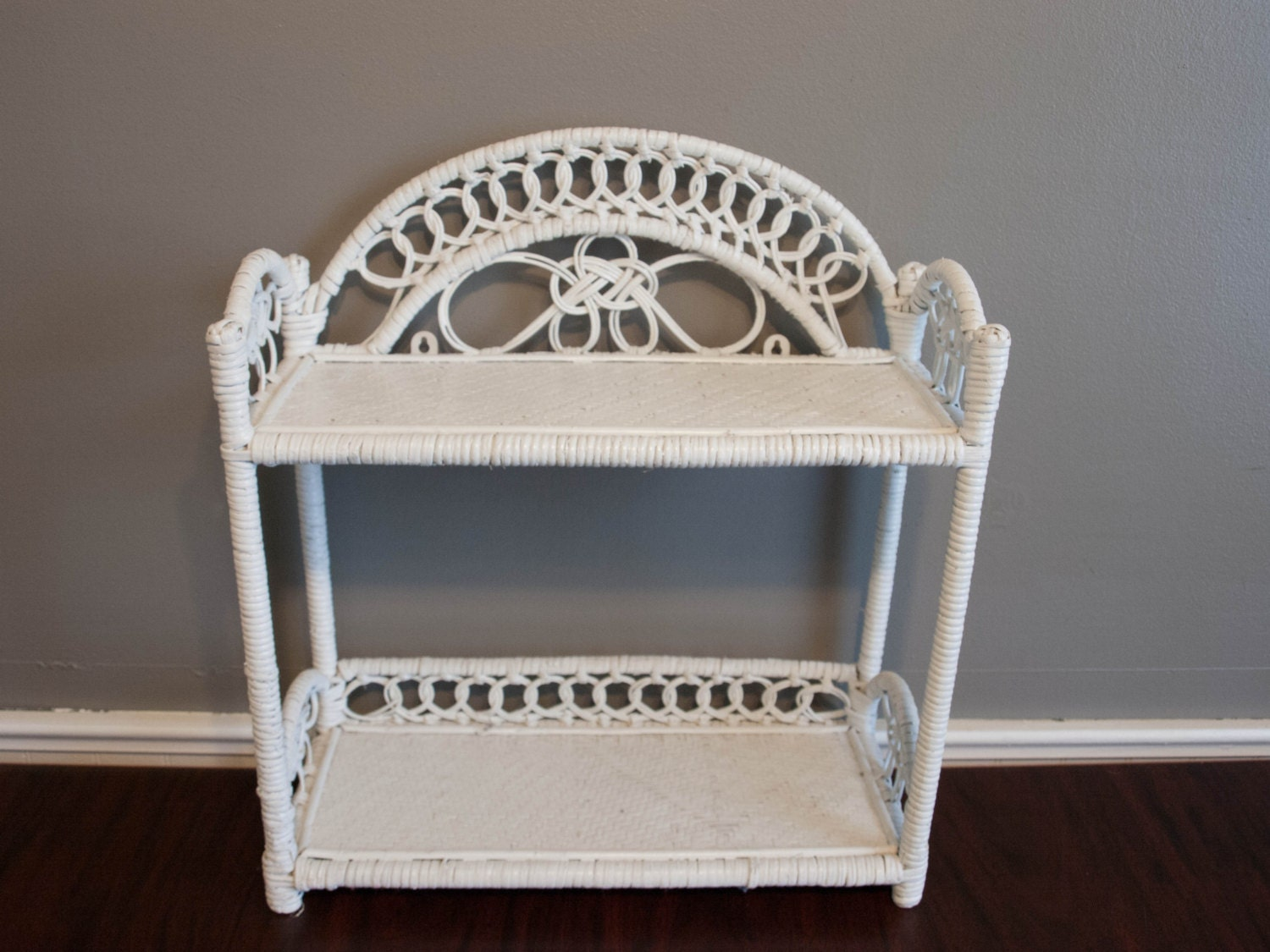 white wicker shelf wicker shelf bathroom shelf by