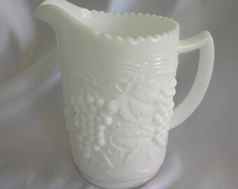 5 Inch Milk Glass Pitcher | Unsigned | Vintage 1960s