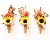 Rustic Fall Boutonniere-Sunflower Wedding-Mens Boutonniere-Rustic Boutonniere-Country Wedding-Autumn Wedding-Mens Lapel Pin-October Wedding