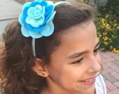 Lush rose headband.... many shades to choose from
