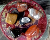 Anti Anxiety Crystal Set-Sacred Grounding-Crystal Healing, Reiki charged, Root Chakra, Mother Earth, Jaspers, Petrified Wood, Hematite