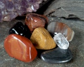 Sacred Grounding Gemstone Set-Crystal Healing, Reiki charged, Root Chakra, Mother Earth, Connectedness, Jaspers, Petrified Wood, Hematite