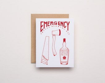 Emergency Tattoo Removal Kit - Letterpress Card
