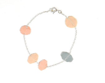 Confetti bracelet with silver and plastic