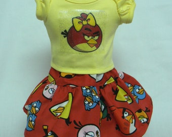 Angry Bird Theme Outfit  For 18 Inch Doll Like The American Girl