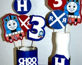 Thomas The Train centerpiece sticks