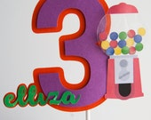 Custom Number cake topper with 3D embellishment