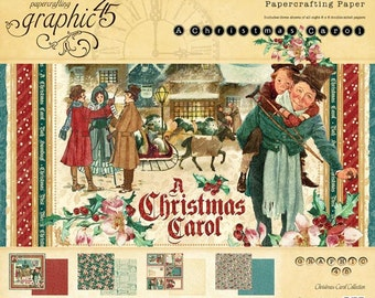 CHRISTMAS CAROL by GRAPHIC 45 - 12x12 Paper Pad Only